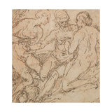 Lot and His Daughters Giclee Print by Alessandro Turchi