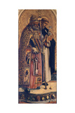St Peter and St Dominic, Detail from Camerino Polyptych Giclee Print by Carlo Crivelli