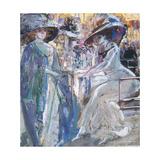 Social Conversation, 1910 Giclee Print by Aroldo Bonzagni