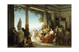 Empress Livia Attending Grape Harvest on Hills of Grignano Giclee Print by Cesare Dell'acqua