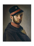 Portrait of Tuscan Volunteer, 1849 Giclee Print by Antonio Puccinelli