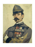 Portrait of Giovanni Maria Damiani Wearing Garibaldi's Army Uniform Giclee Print by Antonio Puccinelli