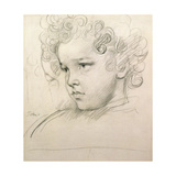 Study of a Young Boy's Head Giclee Print by Augustus Edwin John