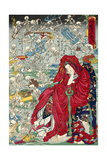 "Hell Courtesan, No. 9 in the Series ""Kyosai Rakuga"" Giclee Print"