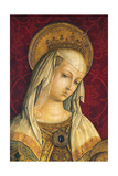 Madonna's Face, Detail from Central Panel of Triptych of Camerino Giclee Print by Carlo Crivelli