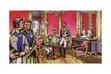 Napoleon Signs the Articles of Abdication at the Palace of Fontainbleau Giclee Print