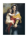 Madonna with Child, Detail from Madonna of the Harpies,1517 Giclee Print by Andrea del Sarto