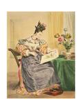 Les Heures Du Jour, Quatre Heures Du Soir, Circa 1830 Giclee Print by Achille Deveria