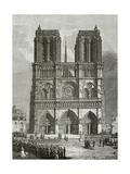 Notre Dame De Paris En 1642 - Illustration from Notre Dame De Paris, 19th Century Giclée-Druck von Eugene Emmanuel Viollet-le-Duc