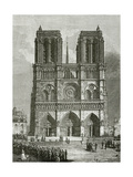 Notre Dame De Paris En 1642 - Illustration from Notre Dame De Paris, 19th Century Giclee Print by Eugene Emmanuel Viollet-le-Duc