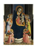 Madonna and Child Enthroned with Saints Reproduction procédé giclée par Giovanni Da Fiesole