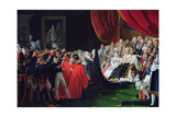 Duchess of Berry Presenting the Duke of Bordeaux to the People and the Army, September 1820 Giclee Print by Charles Nicolas Raphael Lafond