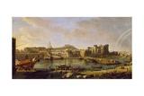 Dock of Naples Giclee Print by Gaspar van Wittel