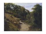 Path Through Chestnut Trees Giclee Print by Antonio Fontanesi