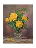 Radiant Yellow Roses Lámina giclée por Albert Williams