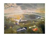 R.A.F. Planes on an Airfield Giclee Print by Eric Ravilious