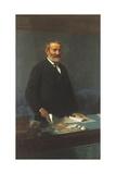 Portrait of Italian Politician and Economist Quintino Sella, 1827-1884 Giclee Print by Domenico Morelli