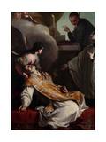 The Saints Andrew Avellino, Aloysius Gonzaga and Stanislao Kostka Giclee Print by Giambettino Cignaroli