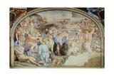 Crossing Red Sea, Fresco Giclée-tryk af Agnolo Bronzino