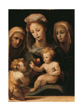 Madonna and Child with the Infant Saint John, Saint Elizabeth and Saint Catherine of Siena Giclee Print by Domenico Beccafumi