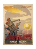 Poster for First International Exhibition of Aerial Locomotion Giclee Print by Ernest Montaut