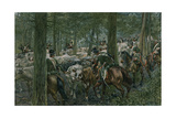 Marbot's Soldiers Foraging on the Retreat Giclee Print by Felicien Baron De Myrbach-rheinfeld