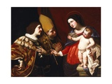 Lady Gives Sceptre of Command to Duke of Guise Giclee Print by Francesco De Rosa