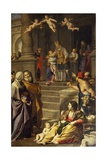Presentation of Mary at Temple, 1623-1627 Giclee Print by Domenico Zampieri