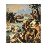 Pearl Fishing, 1570 Giclee Print by Alessandro Allori