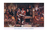 Caxton's Printing Office Almonry Westminster Giclee Print by Daniel Maclise