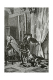 Scene from Hamlet, 19th Century Giclee Print by Ernest Hillemacher