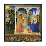 Altarpiece of the Annunciation or the Prado Altarpiece Reproduction procédé giclée par Giovanni Da Fiesole