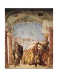 Minerva Restraining Achilles from Killing Agamemnon Giclee Print by Giambattista Tiepolo