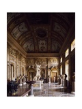 Room of Emperors with Rape of Proserpina in Centre, Galleria Borghese, Rome, Italy Giclee Print by Gian Lorenzo Bernini