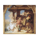 Angelica and Medoro Taking Leave of Peasants Giclee Print by Giambattista Tiepolo