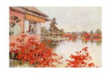 Azaleas, Nagaoka Giclee Print by Ella Du Cane