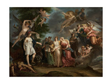 France Triumphant Encouraging the Sciences and the Arts During the War, 1794 Giclee Print by Charles Meynier