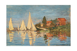 Regatta at Argenteuil, 1872 Giclee Print by Claude Monet