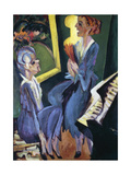 Music Room, 1915 Giclee Print by Ernst Ludwig Kirchner