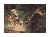Detail from Frescoes Giclée-tryk af Carlo Maratti