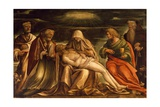 Pieta Between Saints Mark, Ambrose, John the Evangelist and Antonio Abate Giclee Print by Amico Aspertini
