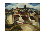 A Village Procession, France, C.1923 Giclee Print by Christopher Richard Wynne Nevinson