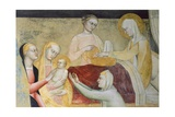 Birth of Mary, Fresco Giclee Print by Giovanni Da Milano