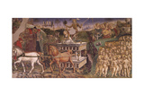 Triumph of Apollo, Month of May, Circa 1470 Giclee Print by Francesco del Cossa