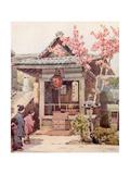 A Buddhist Shrine Giclee Print by Ella Du Cane