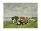 Pasture at the Seaside, C.1880-85 Giclee Print by Eugene Louis Boudin