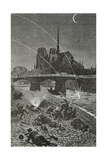 Paris under Fire, 19th Century Giclee Print by Daniel Urrabieta Vierge