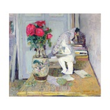 Statuette by Maillol and Red Roses, C.1903-05 Giclee Print by Edouard Vuillard