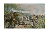 Bonaparte Checking the French Retreat at Marengo Giclee Print by Felicien Baron De Myrbach-rheinfeld