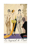 The Judgement of Paris Giclee Print by Georges Barbier